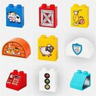 Printing Pattern Building Blocks Car Bank Food Accessories DIY Toys Children