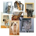 4 Way MEDIUM SMALL LARGE Pet Cat Puppy Dog Lock Lockable Safe Flap Door Gate USA
