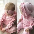 UK Stock Kids Baby Girl Infant Clothes T-shirt Top Pants Outfit Sets Tracksuit