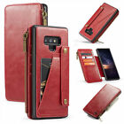 For iPhone Samsung Multifunction Leather Zipper Removable Wallet Case Cover