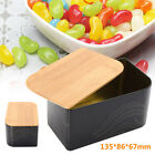 135x86x67mm Candy Tea Metal Storage Bin Biscuit Cookie Box Container Bamboo