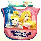 Disney 2 Pack Baby & Toddler Bibs Set Girl Boy Mickey Minnie Mouse Princess