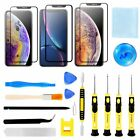 For i Phone XR XS Max XS Front Outer Screen Glass Lens Replacement 16 Tools Kits