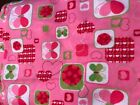 "Flannel Fabric Butterflies and Hearts Pink Red Lime 42"" Wide 2 7/8 Yard Lot NEW"