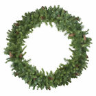 "Northlight 48"" Dakota Red Pine Artificial Christmas Wreath Pine Cones -"
