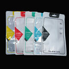 12x21cm Plastic Front Clear Zipper Phone Case Bags Colorful Pouch With Hang Hole