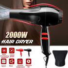 2000W Professional Lonic Hair Dryer Hot & Cold Wind Fast Dry Hair With Nozzle