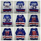 Ice Hockey Jersey Vintage 1980 Miracle on Ice Team USA Mike Eruzione 21 Blue