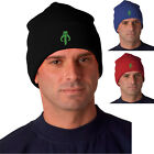 Star Wars Boba Fett Mandalorian Skull Logo in GREEN - Knit Hat - Beanie Cap $12.99 USD on eBay