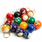 "~ 1"" Billiard Ball Pool Keychain Keyring: PICK YOUR OWN POISON!!! $8.49 USD on eBay"