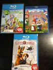 Planet 51 -- Cats & Dogs --  Gnomeo & Juliet Lot of 3 Blu-ray Movies