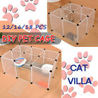 5 Size DIY Large Cat Villa Home Pet Cage Anti-skip Cat Fence Plastic Home Cage