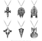 "Chain necklace pendant Star Trek Star wars venture the spaceship ""Millennium Fal on eBay"