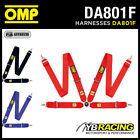 "OMP 801F RACING HARNESS HANS FRIENDLY 4-POINT 3"" BELTS FIA 8854/98"