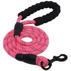 5ft Strong Padded Handle Dog Rope Nylon with Reflective Threads for Dog Walking
