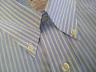 NWOT Brooks Brothers Non Iron Blue Stripe Madison Fit Short Sleeve 15.5 MSRP $82
