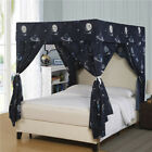 Home Deer Galaxy Four Corner Post Bed Light Shading Curtain Canopy Mosquito Net image