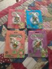 Nickelodeon Teenage Mutant Ninja Turtle Keychains-All 4 Turtles Sealed & Perfect