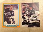 Wayne Gretzky Gretsky 1990 Premier Sports Stars Orange Border & 1991-92 Pro Set