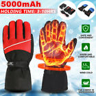 5000mAh Warm Winter Electric Heated Hands Warmer Gloves + Rechargeable Battery
