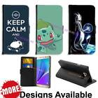 Pokemon Go Game Team Pikachu PU Leather Wallet Flip For Samsung LG Huawei HTC