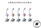 Miami Dolphins Silver Belly Button Navel Ring - Customize Gem Color - NEW on eBay
