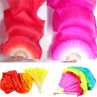 18m Hand Made Colorful Belly Dancing Bamboo Long Silk Fans Veils Dance Fan US