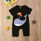 US Newborn Baby Boys Girls Shark Romper Summer Jumpsuit Bodysuit Outfits Clothes