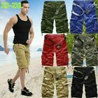 Mens Casual Shorts Pants Combat Cargo Army Camo Military Loose Bottoms Overalls