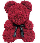 40/25cm Pink Rose Teddy Bear Heart Flower Gift For Girlfriend Birthday Wedding