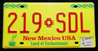 "USA Nummernschild aus New Mexcio ""Land of Enchantment"" mit Grafik ""SDL"". S-4683."