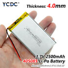 3.7V 2500mAh Li-Po Rechargeable Battery 405085 For MP4 MP5 DVD GPS Cell Phone 6