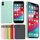 Premium Genuine Leather Slim Silicone Cover For iiPhone XS Max XR 7 8Plus Case
