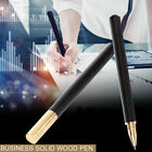 3307 Smooth Writing Pens Office Stationery Signature Solid Wood Roller Ball Pen