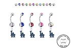 Los Angeles Dodgers Silver Belly Button Navel Ring - Customize Gem Color - NEW on Ebay