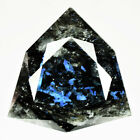 19.26 Ct UNHEATED BLACK WITH IRIDESCENT BLUE FLASH NUUMITE FROM GREENLAND