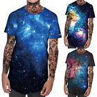 3D Space Galaxy Print Mens Boy Summer T-Shirts Short Sleeve Crew Neck Tees Tops