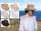 Women  s Victoria Sun Hat Summer Beach Modern Wide Brim Straw Bucket Hat