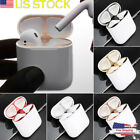 For Apple Airpods 1 or 2 Metal Dust Guard Protective Case Box Shell Skin Sticker