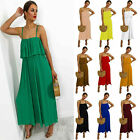 Womens Ladies Pleated Detail Wide Leg Frill Bust All in One Jumpsuit Playsuit