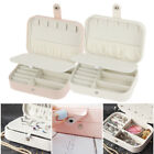Pu Jewelry Box Organizer 2 Layers Travel Case Earring Ring Necklace Storage