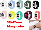 38 42mm Replacement Sports Silicone Strap Band for Applee Watch Series 4/3/2/1