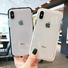 For i Phone XS Max XR 7 8 Plus Case Shockproof Clear Flexible Bumper TPU Cover