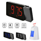 Digital LED Display FM Radio Projection Alarm Clock Time Voice Talking Projector