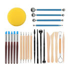 24Pcs/Set Pottery Tools Polymer Clay Sculpting Wax Modeling Carving Ceramic Kit image