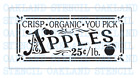 Apple STENCIL for Painting Wood Signs Summer Walls Canvas Fabric Reusable