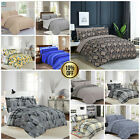 100% Egyptian Cotton Duvet Cover Bedding Set with Pillow Cases & Fitted Sheet image