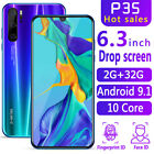 "P35 pro 6.3"" HD 2g+32g 2320x1080 Android Face Smart Cell Mobile Phone Dual SIM"