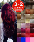 Hair Extensions Clip-in Hair real Human Feel Red Pink Blue White Purple Blondes