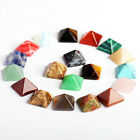 5PC Pyramid Gemstone Natural Stone Quartz Crystal Healing Point Chakra Home